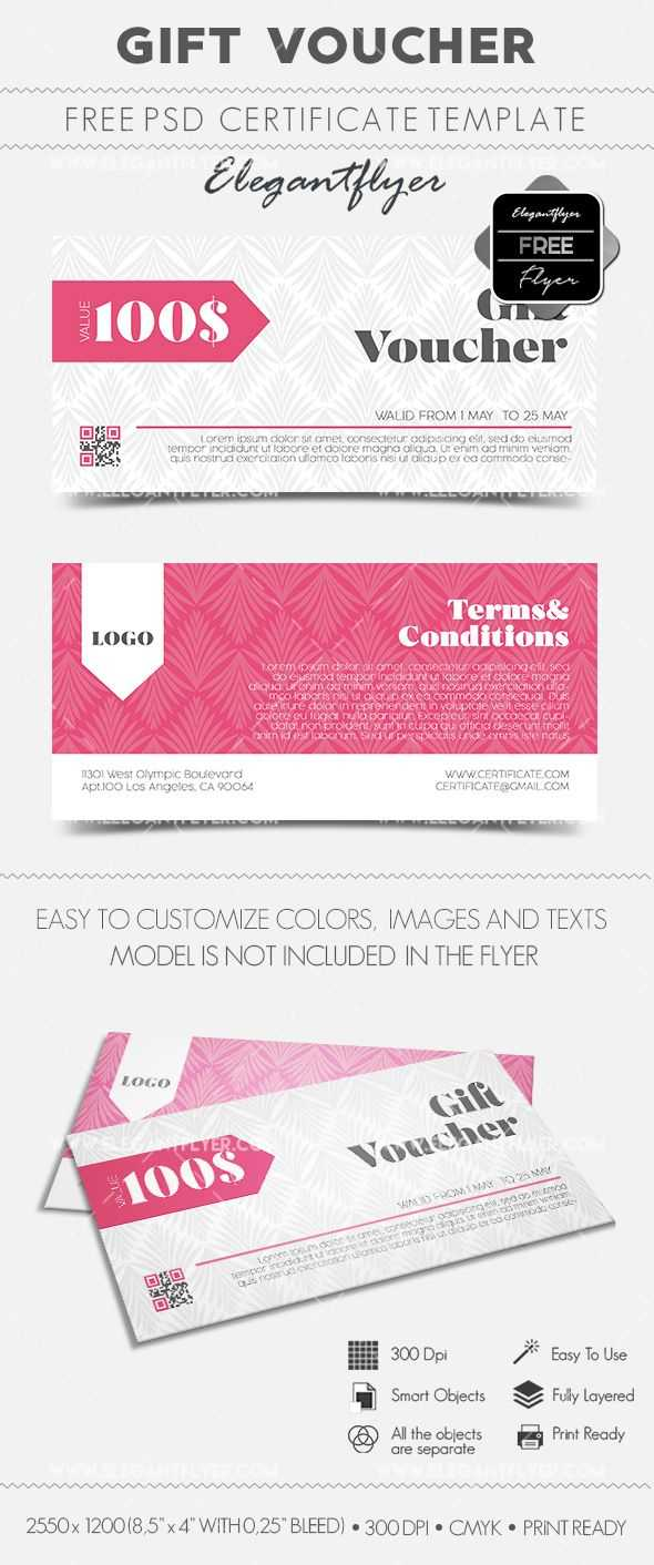 Gift Voucher – Free Gift Certificate Psd Template | Design Inside Gift Certificate Template Photoshop