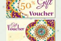 Gift Voucher Template Mandala Design Certificate Stock intended for Magazine Subscription Gift Certificate Template