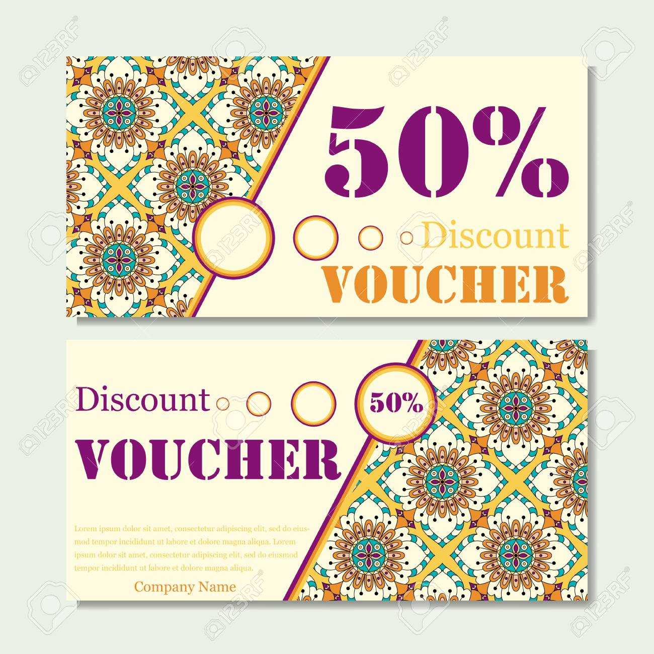 Gift Voucher Template With Mandala. Design Certificate For Sport.. Within Magazine Subscription Gift Certificate Template