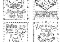 Gluten-Free Valentine's Day Cards, Plus A Mini Kid-Size in Valentine Card Template For Kids