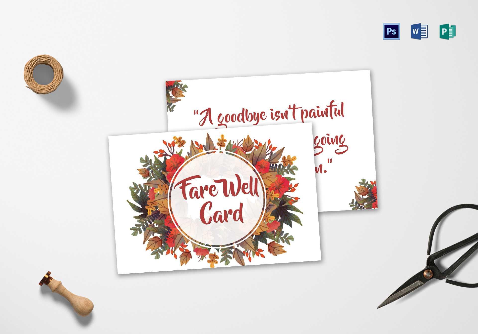 Goodbye Farewell Invitation Card Template Within Farewell Card Template Word