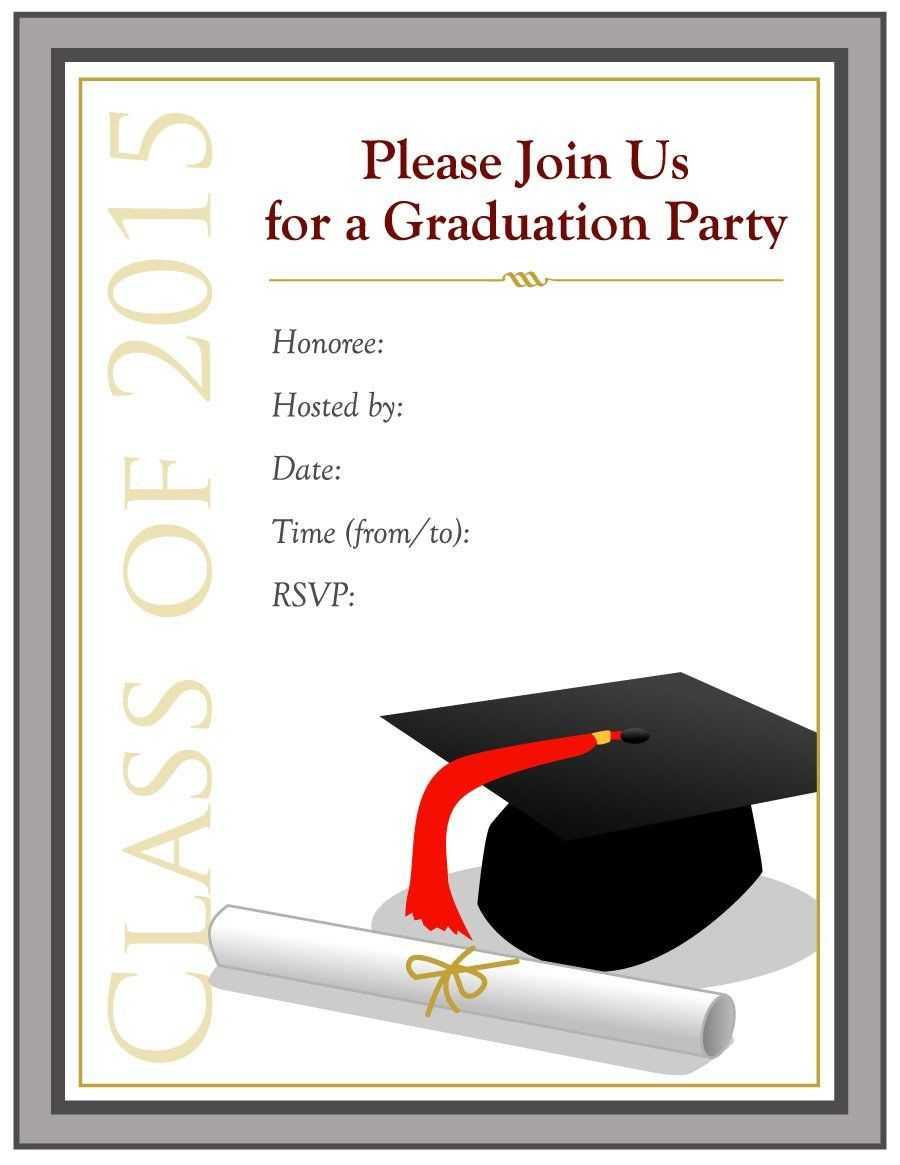Graduation Invitation Templates - 40+ Free Graduation In Graduation Party Invitation Templates Free Word