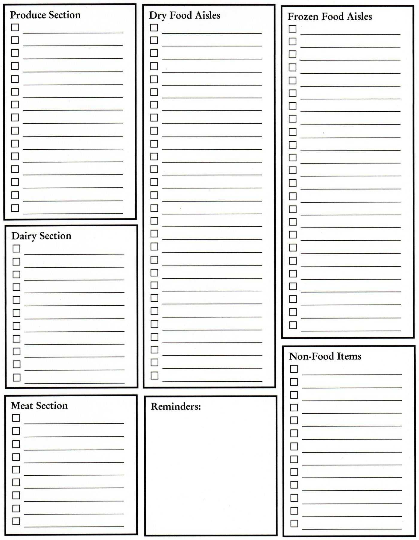 Grocery List Blank Template Great Idea, Need To Keep On For Blank Grocery Shopping List Template