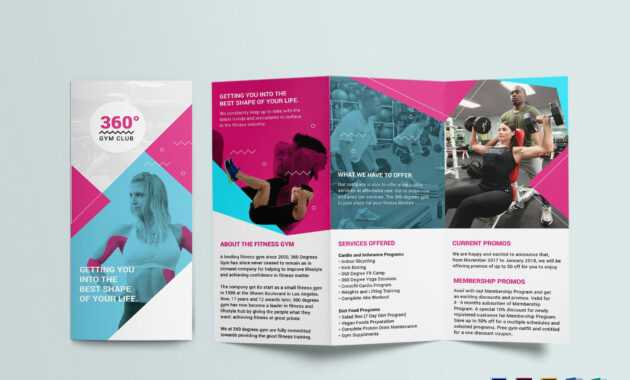 Gym Tri-Fold Brochure Template within Tri Fold Brochure Publisher Template