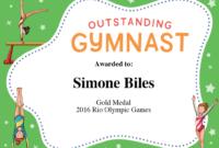 Gymnastics Quotes | Simone Biles, Gabby Douglas & Aly with Gymnastics Certificate Template