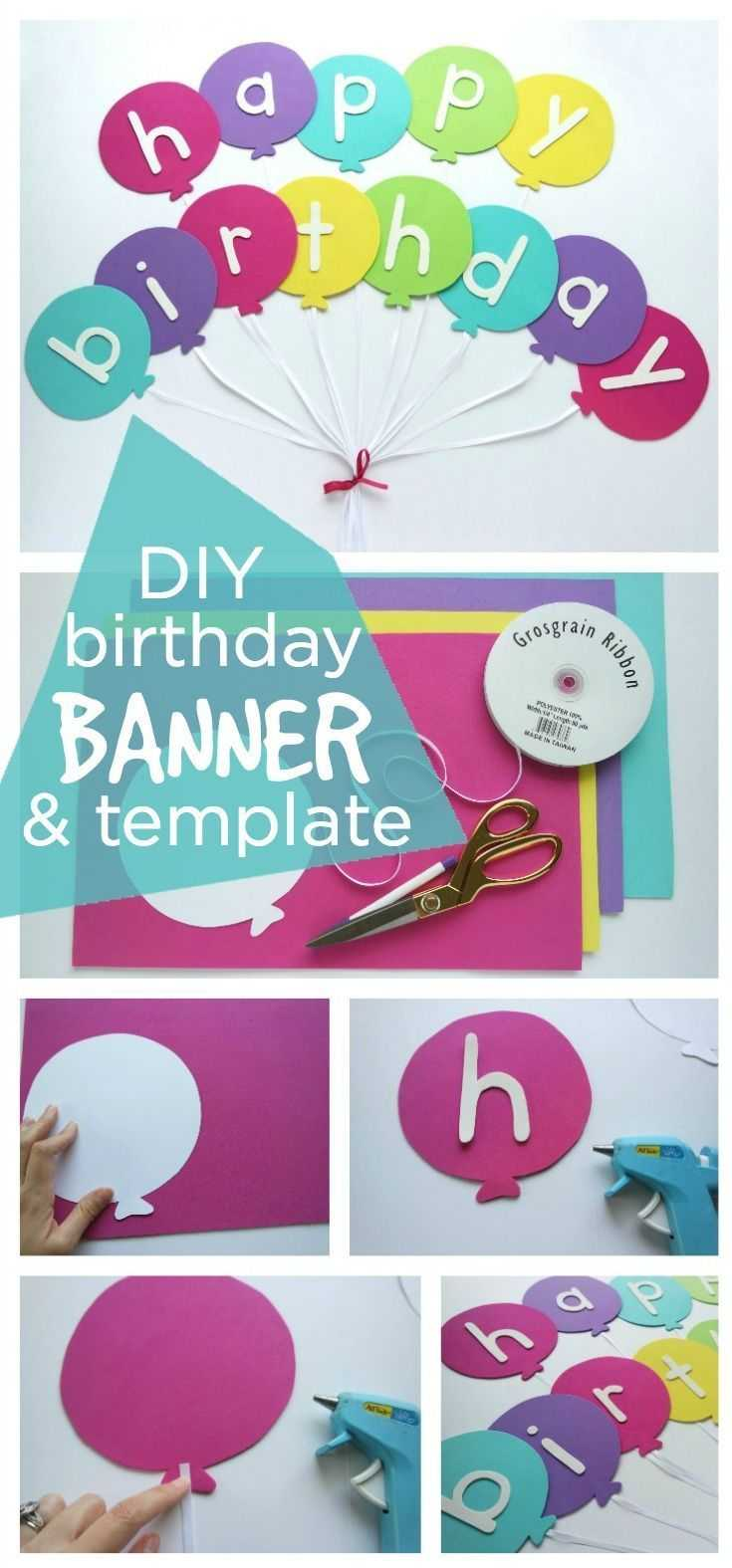 Happy Birthday Banner Diy Template | Diy Party Ideas  Group For Diy Party Banner Template
