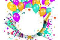 Happy Birthday Banner Poster Template regarding Free Happy Birthday Banner Templates Download