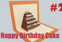 Happy Birthday Cake #2 – Pop-Up Card Tutorial within Happy Birthday Pop Up Card Free Template