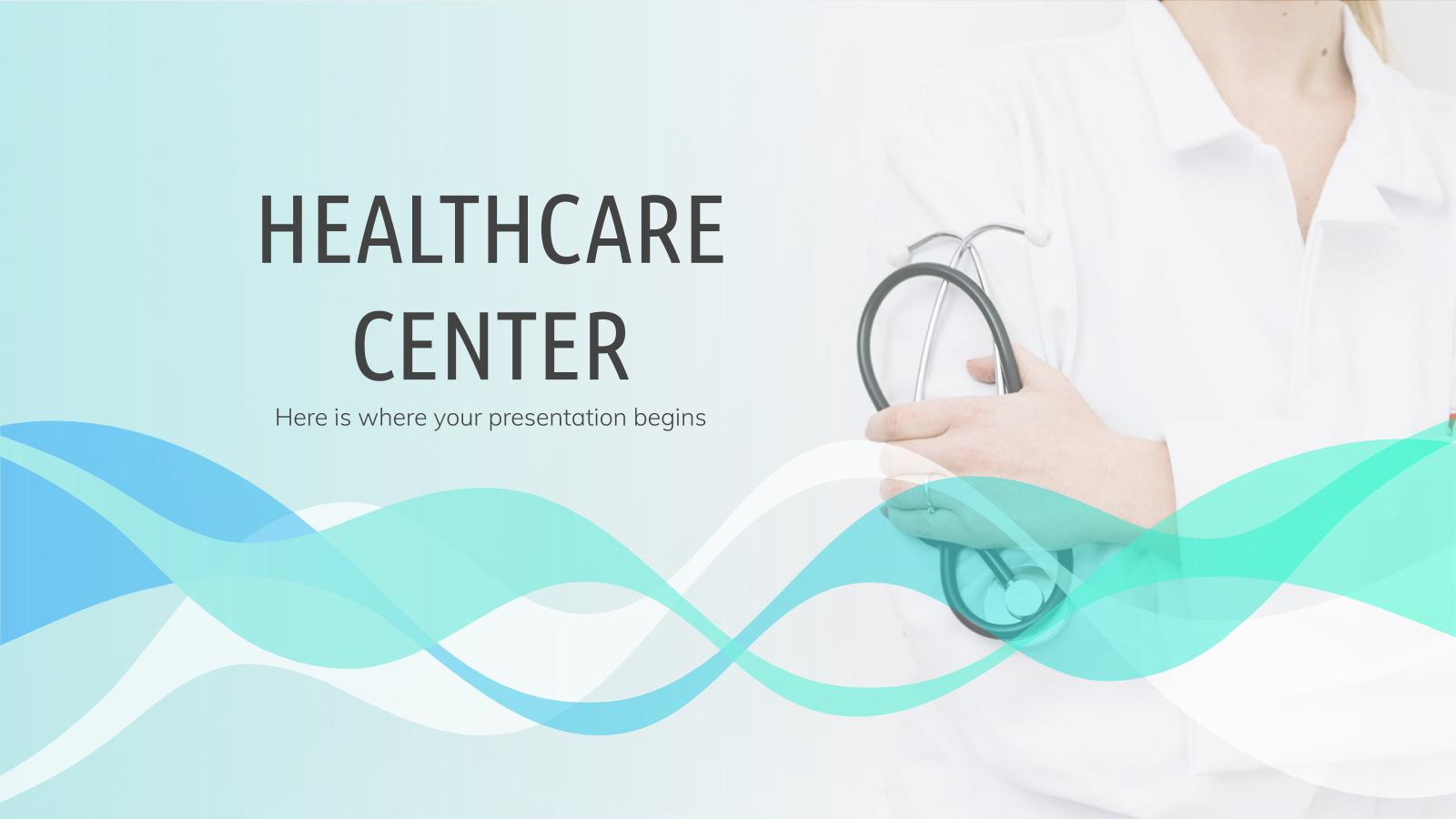 Healthcare Center - Free Presentation Template For Google With Regard To Free Nursing Powerpoint Templates