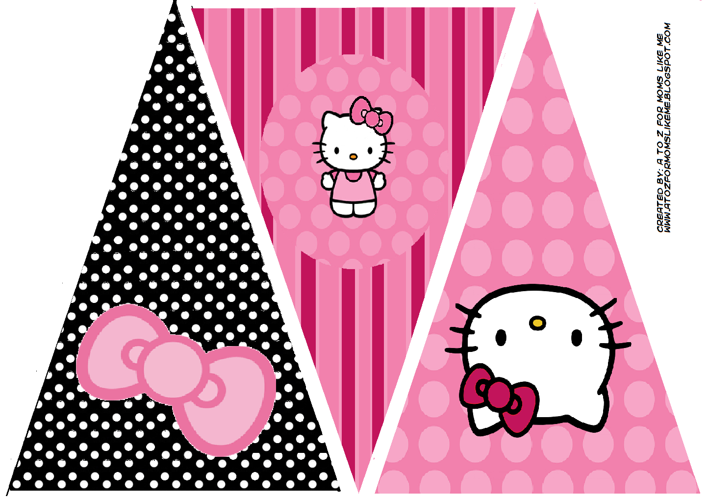 Hello Kitty Birthday Party Banner. This Is One Of 2 Pertaining To Hello Kitty Banner Template