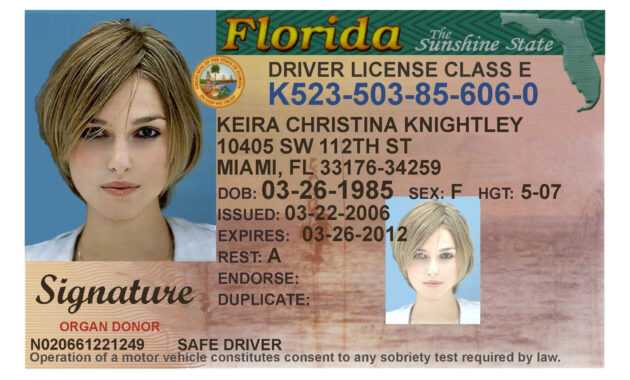 Here's A Sample Of A Fake Florida Id Card That's Solda within Florida Id Card Template