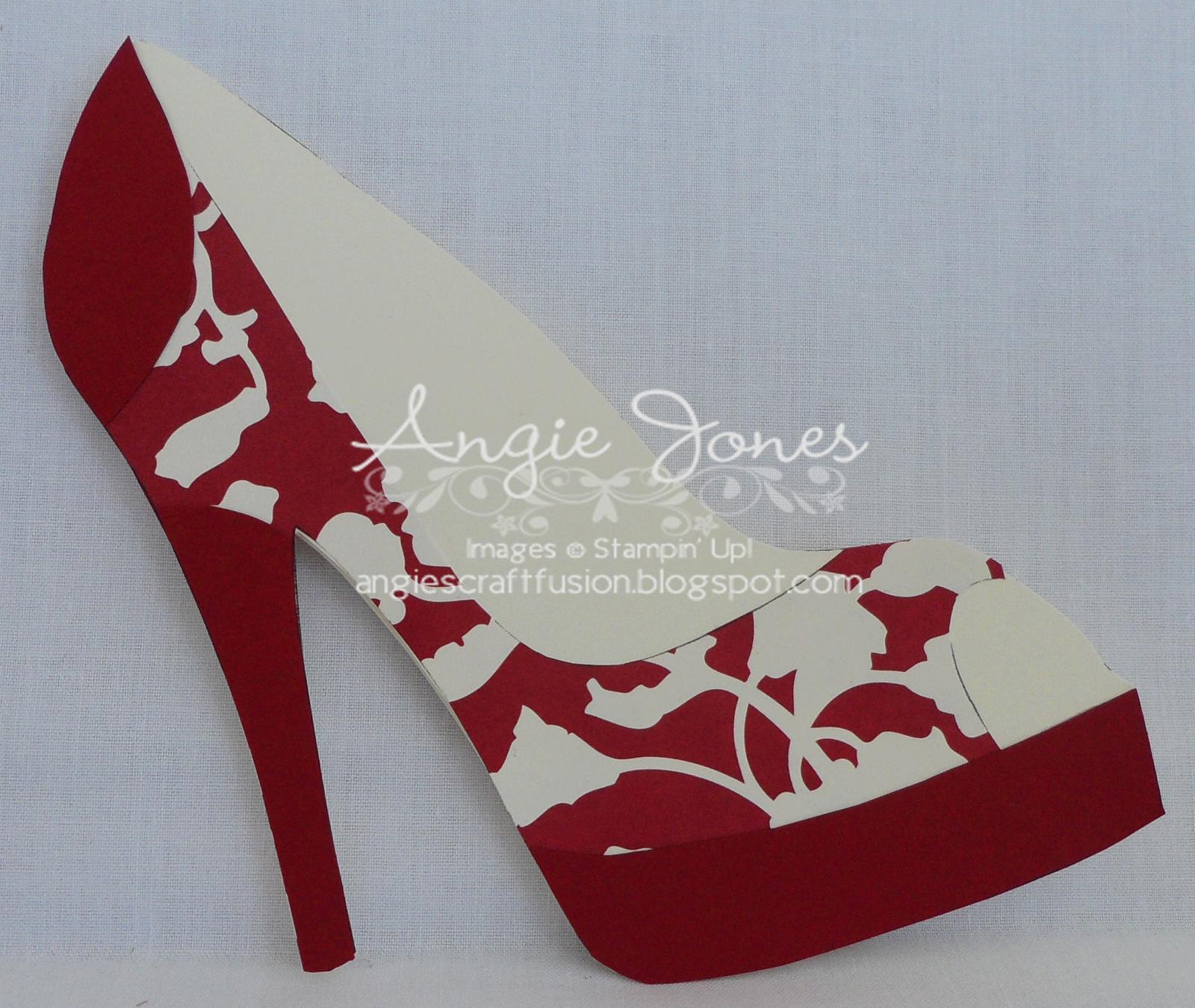 High Heel Shoe Card | Shoe Decor | Paper Shoes, Shoe Inside High Heel Shoe Template For Card