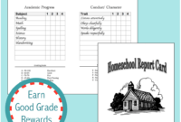 Homeschool Report Cards – Flanders Family Homelife for Homeschool Middle School Report Card Template