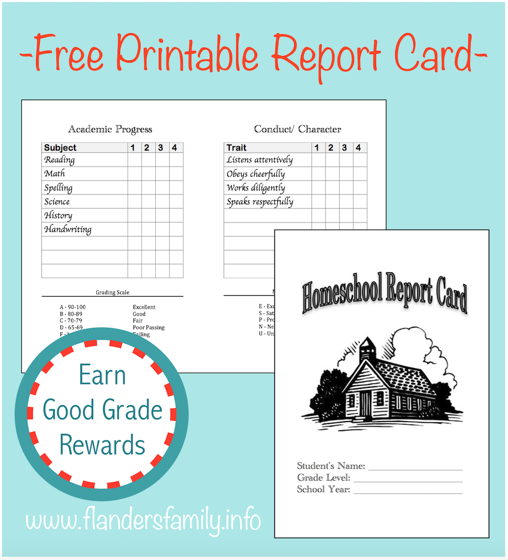 Homeschool Report Cards - Flanders Family Homelife Intended For Homeschool Report Card Template