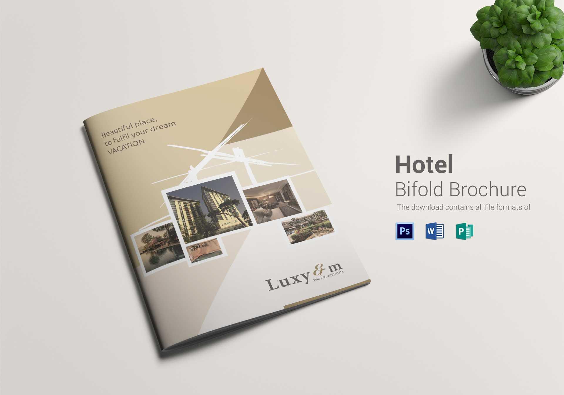Hotel Bi Fold Brochure Template In Hotel Brochure Design Templates