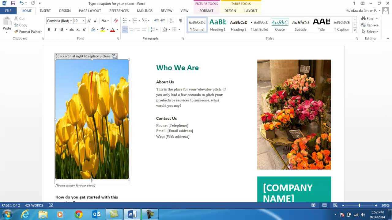 How To Create A Brochure Using Ms Word 2013 With Word 2013 Brochure Template