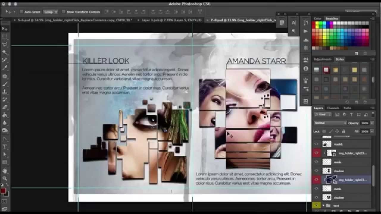 How To Design A Progessional 12 Page Brochure In Photoshop In 12 Page Brochure Template