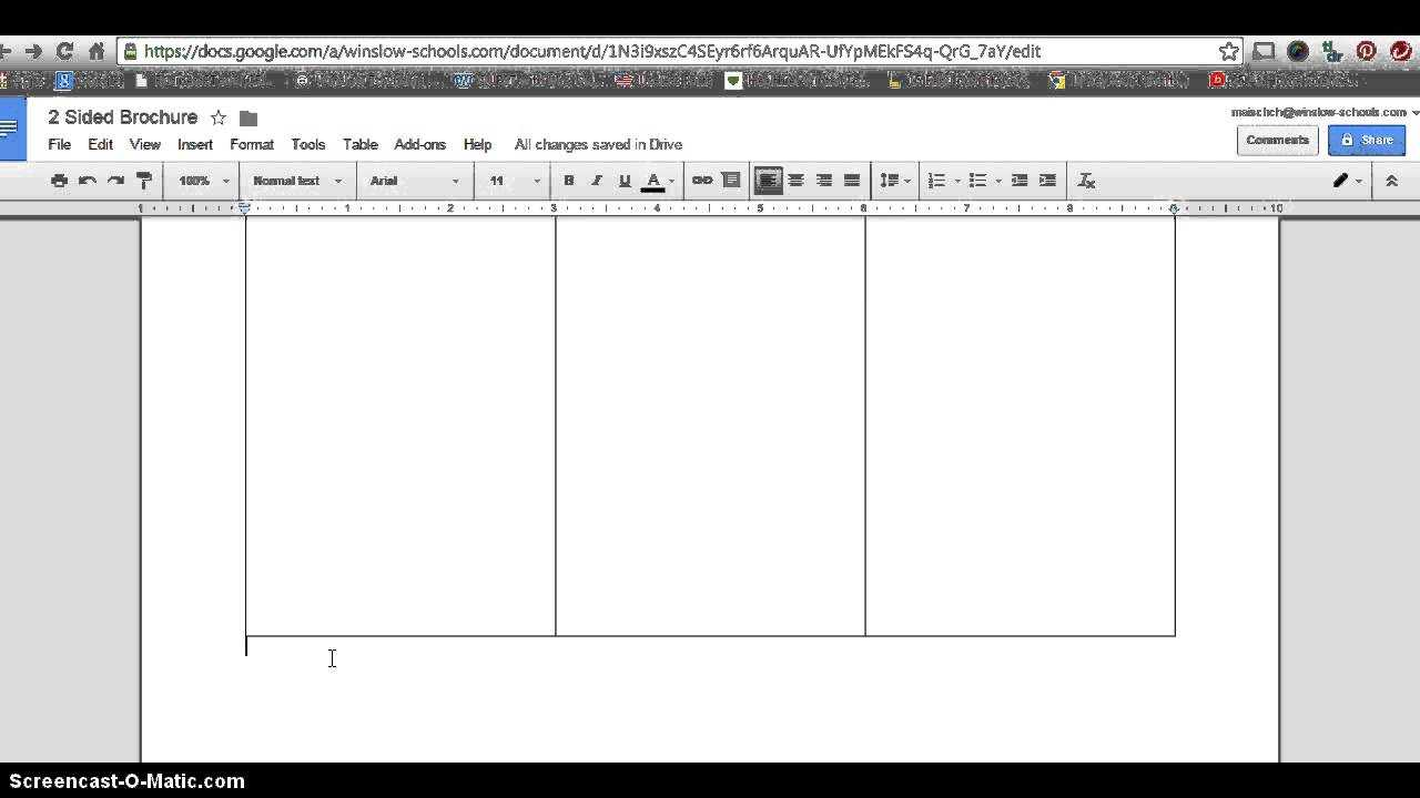 How To Make 2 Sided Brochure With Google Docs With Regard To Brochure Templates For Google Docs