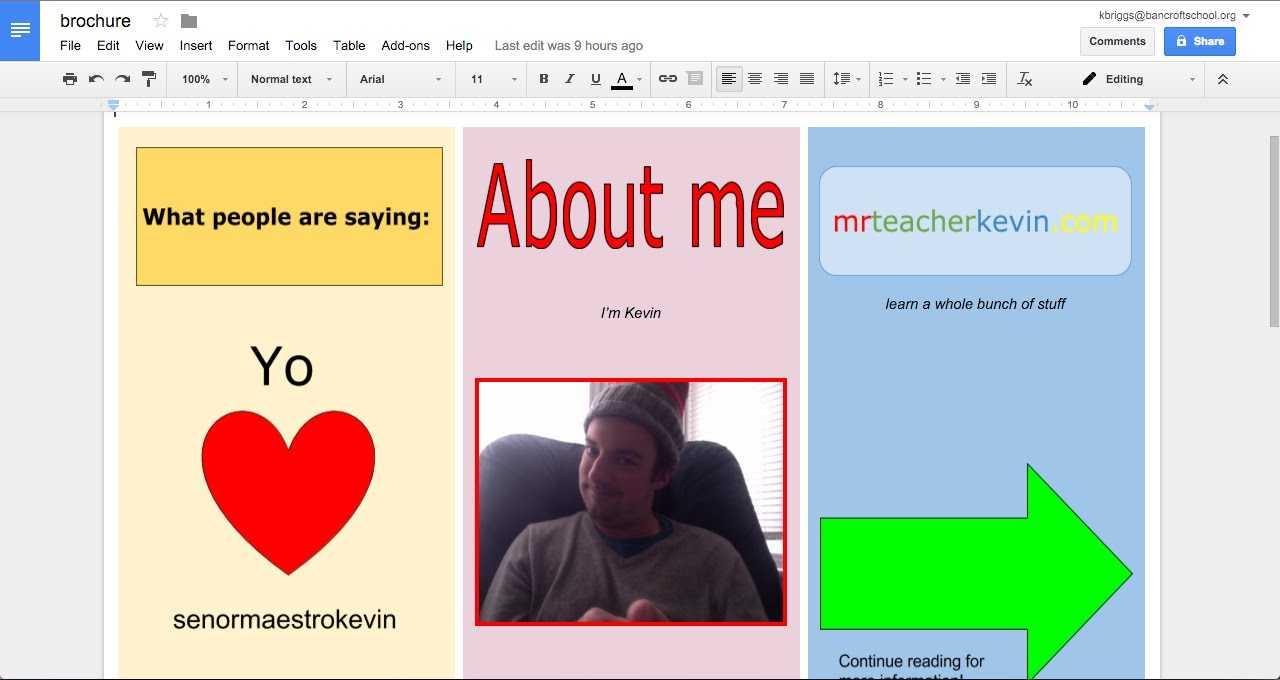 How To Make A Brochure In Google Docs Inside Brochure Templates For Google Docs
