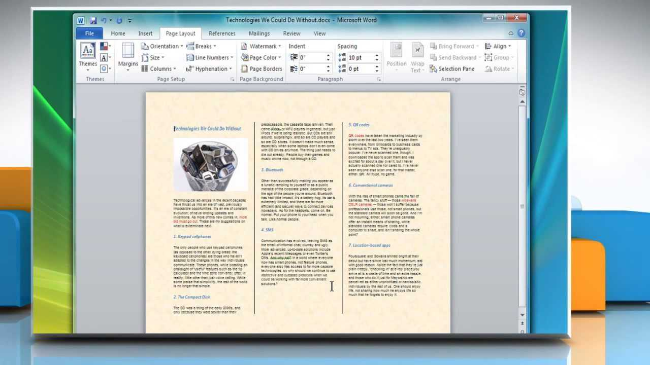 How To Make A Tri Fold Brochure In Microsoft® Word 2007 Regarding Brochure Templates For Word 2007