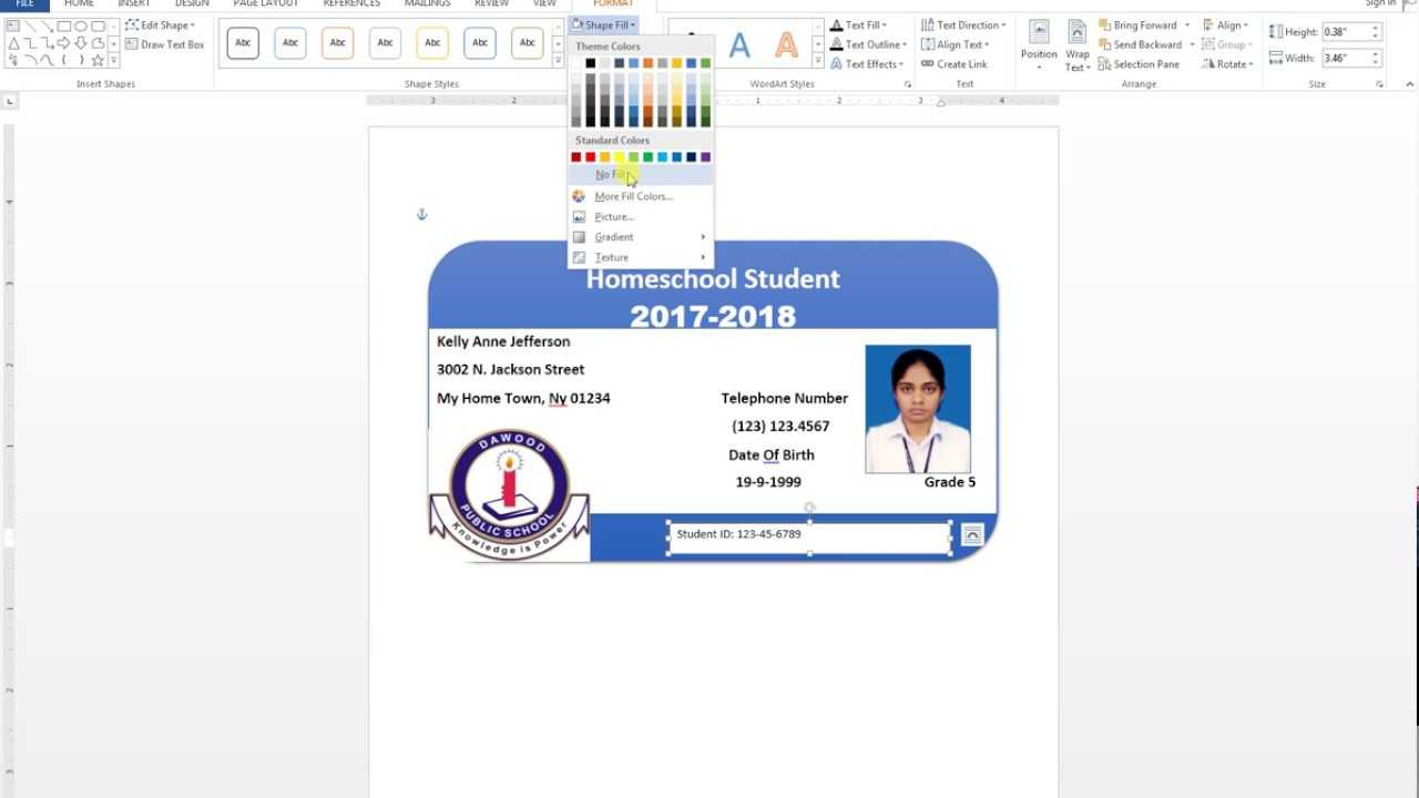 How To Make Id Card Design In Ms Word Urdu Tutorial With Id Badge Template Word