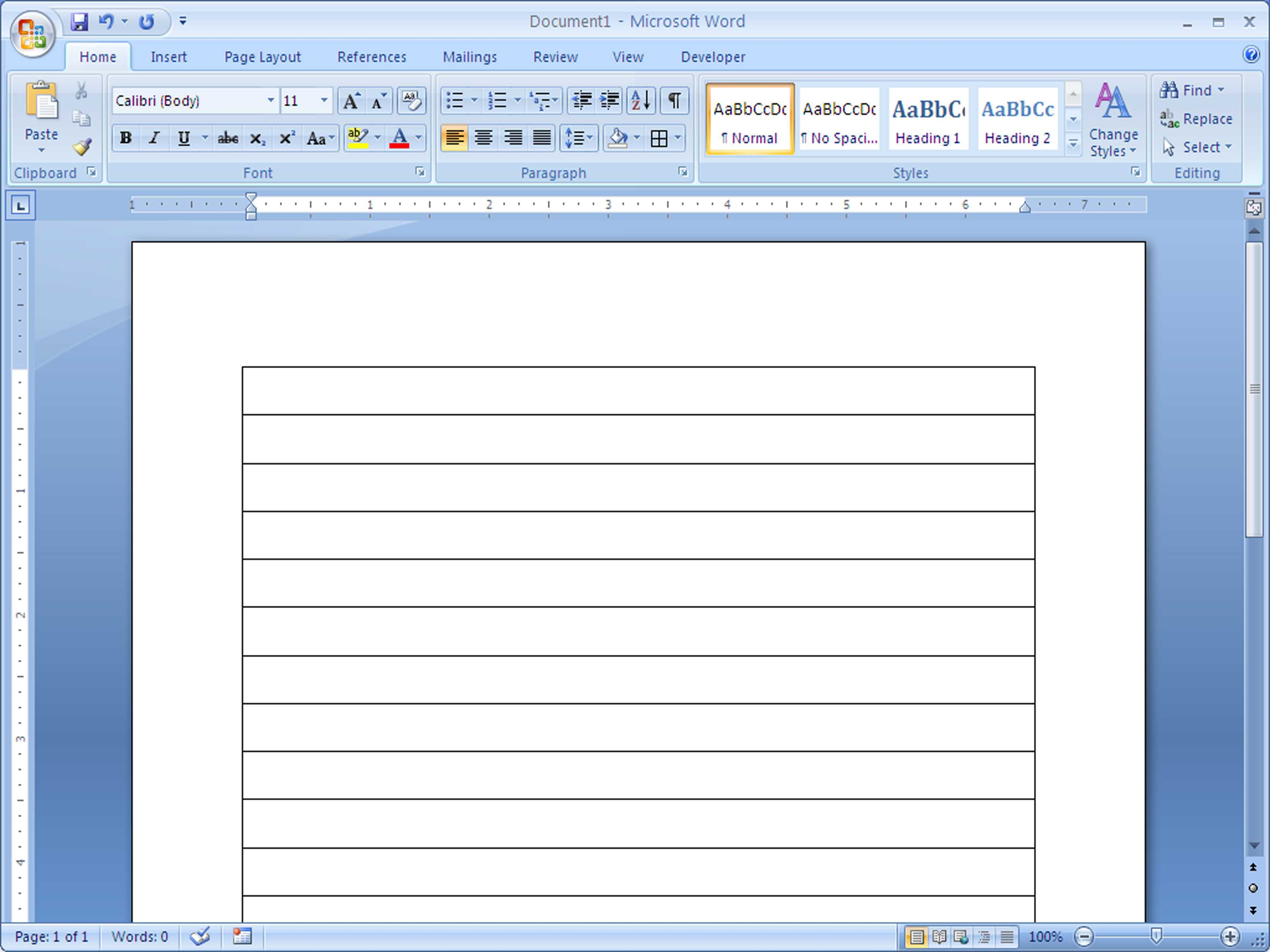 How To Make Lined Paper In Word 2007: 4 Steps (With Pictures) Inside Microsoft Word Lined Paper Template