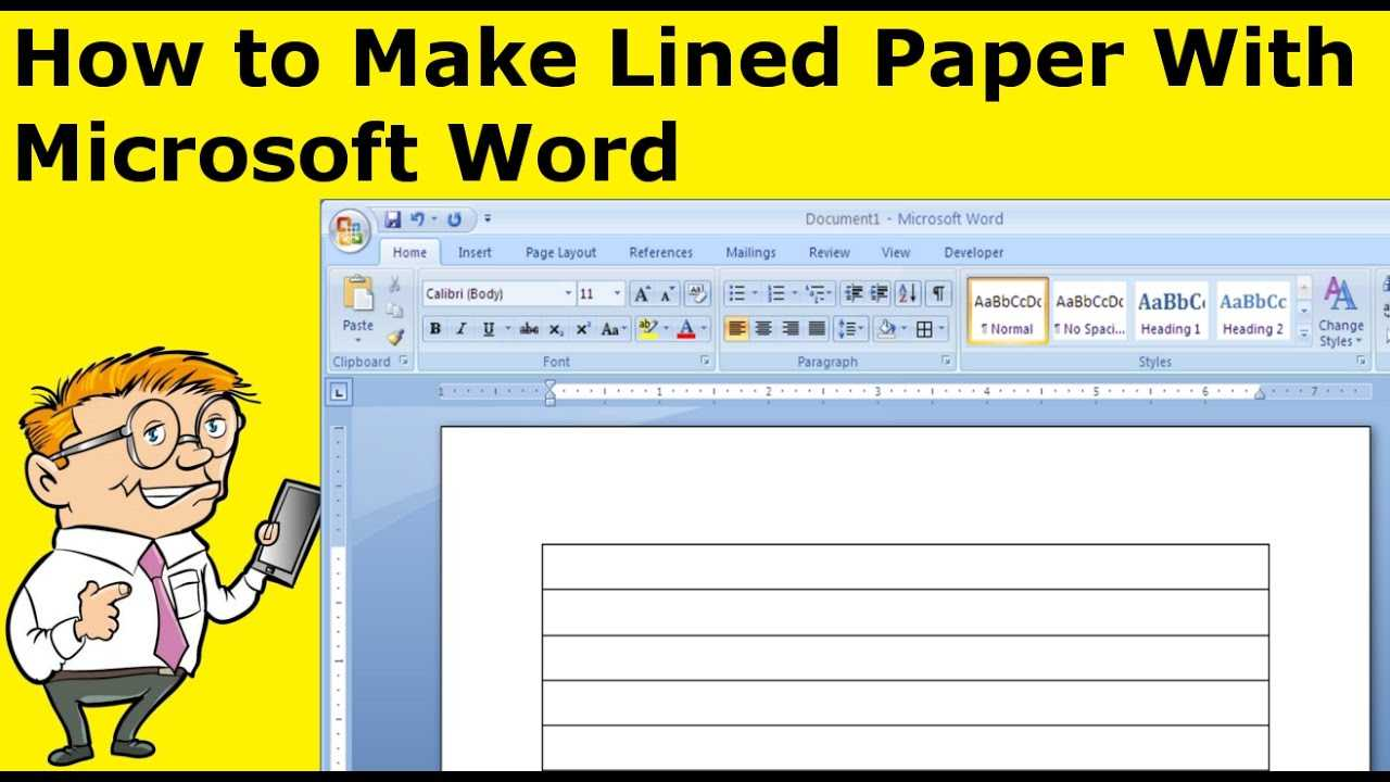 How To Make Lined Paper With Microsoft Word Regarding Microsoft Word Lined Paper Template