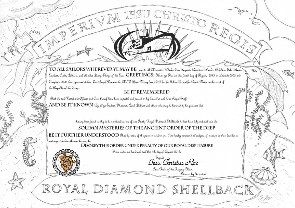 How To Turn Slimy Polliwogs Into Trusty Shellbacks | Jay On Pertaining To Crossing The Line Certificate Template