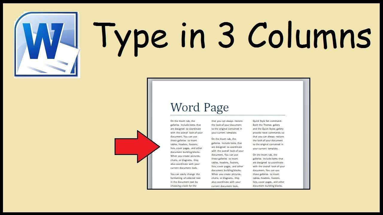 How To Type In 3 Columns Word For 3 Column Word Template