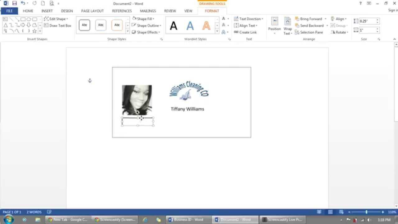 How To Use Microsoft Word To Make Id Badges Intended For Id Badge Template Word