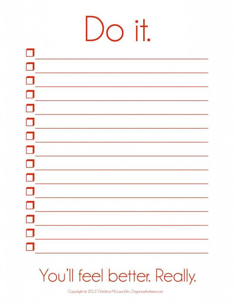 I So Need This! ~ Things To Do Template Pdf | Free Printable Inside Blank To Do List Template