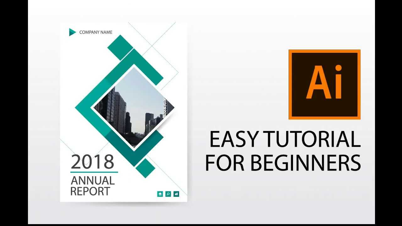 Illustrator Tutorial : How To Design Annual Report Cover, Brochure, Flyer  Template Throughout Illustrator Report Templates