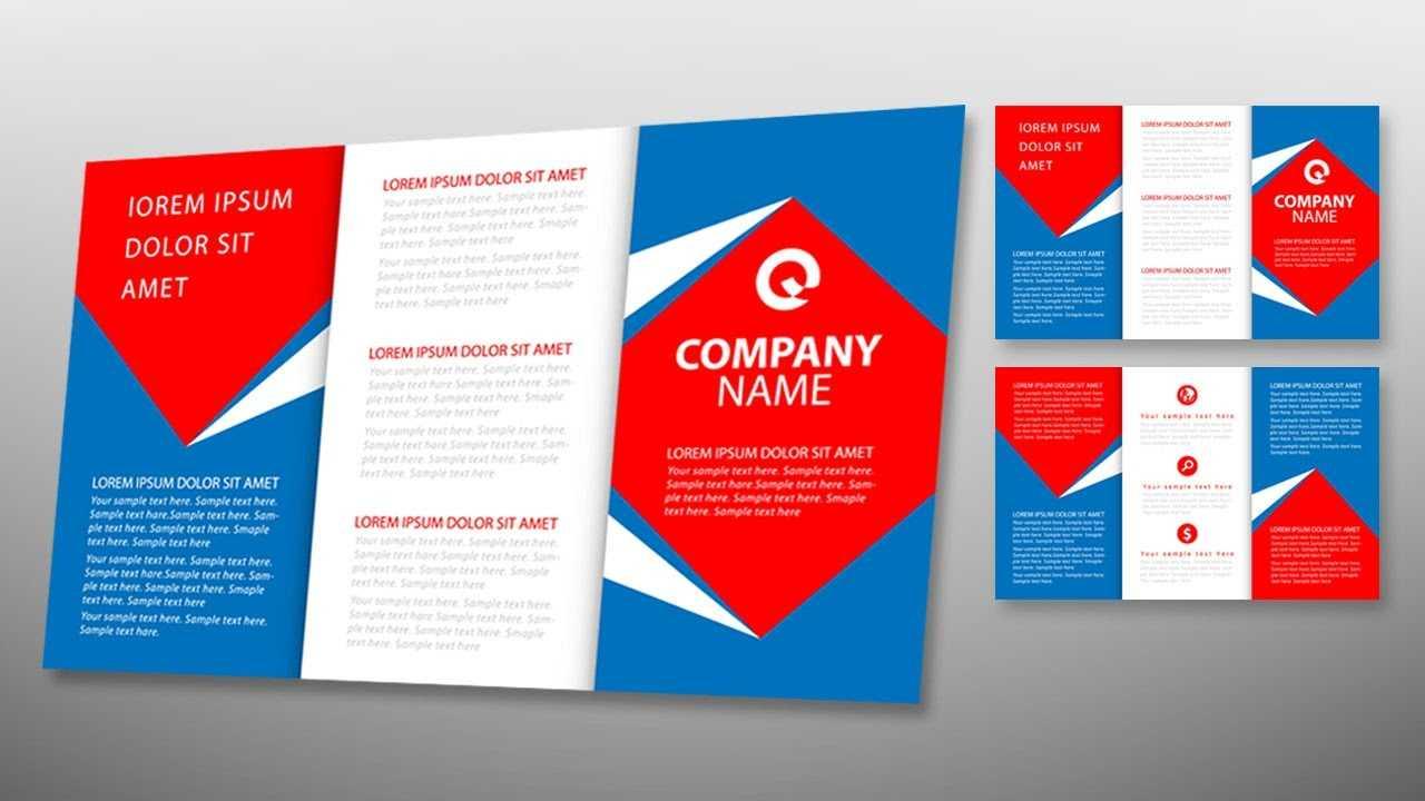 Illustrator Tutorial - Tri Fold Brochure Design Template Intended For Tri Fold Brochure Template Illustrator