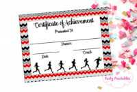 Instant Download – Cross Country Certificate – Track And Field – Running  Certificate – Jog-A-Thon Printable – Running Achievement pertaining to Track And Field Certificate Templates Free
