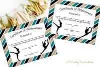Instant Download – Gymnastics Award – Gymnastics Certificate – Printable  Gymnastics Award – Sports Achievement – You Print – Gymnastics Meet with Gymnastics Certificate Template