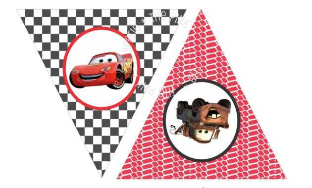 Instant Download - Printable Cars Themed Happy Birthday throughout Cars Birthday Banner Template