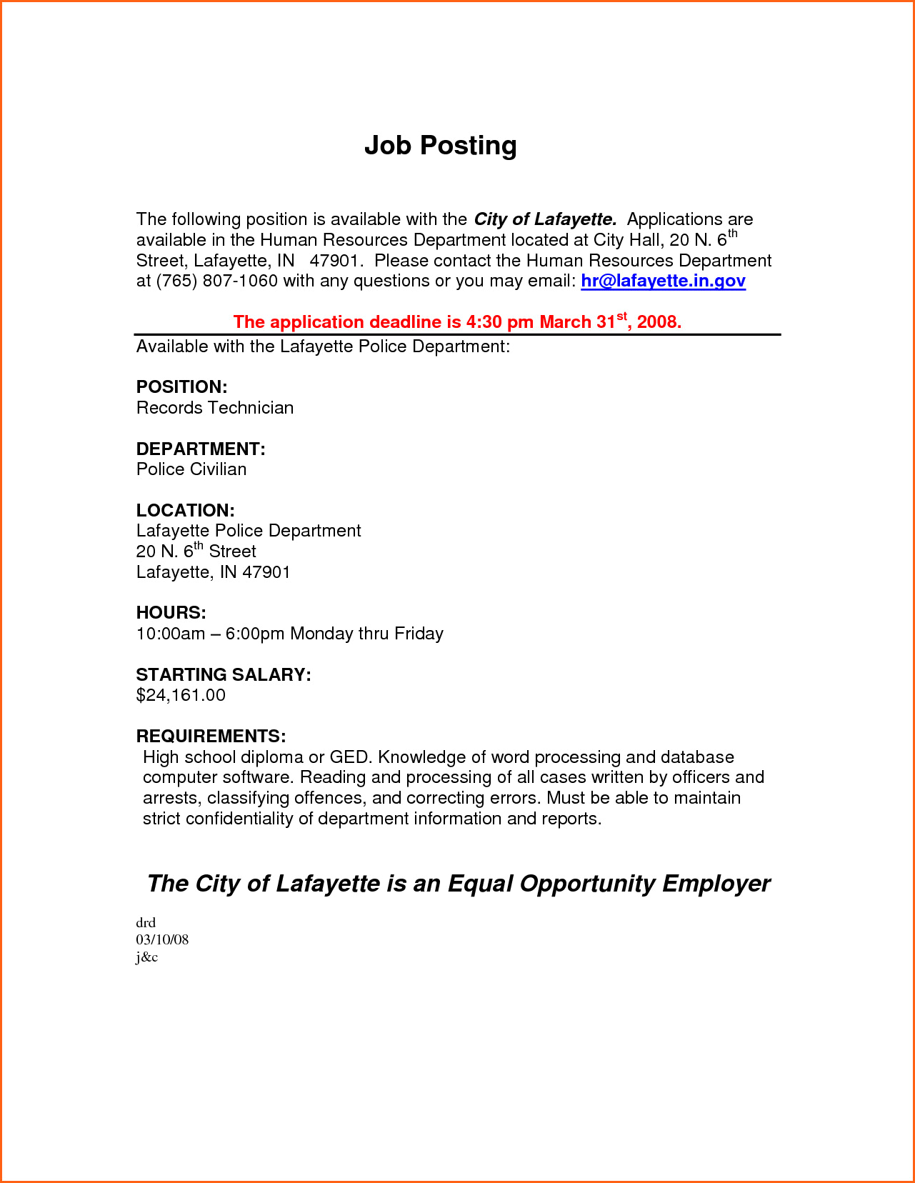 Internal Job Posting Template The Real Reason Behind For Internal Job Posting Template Word