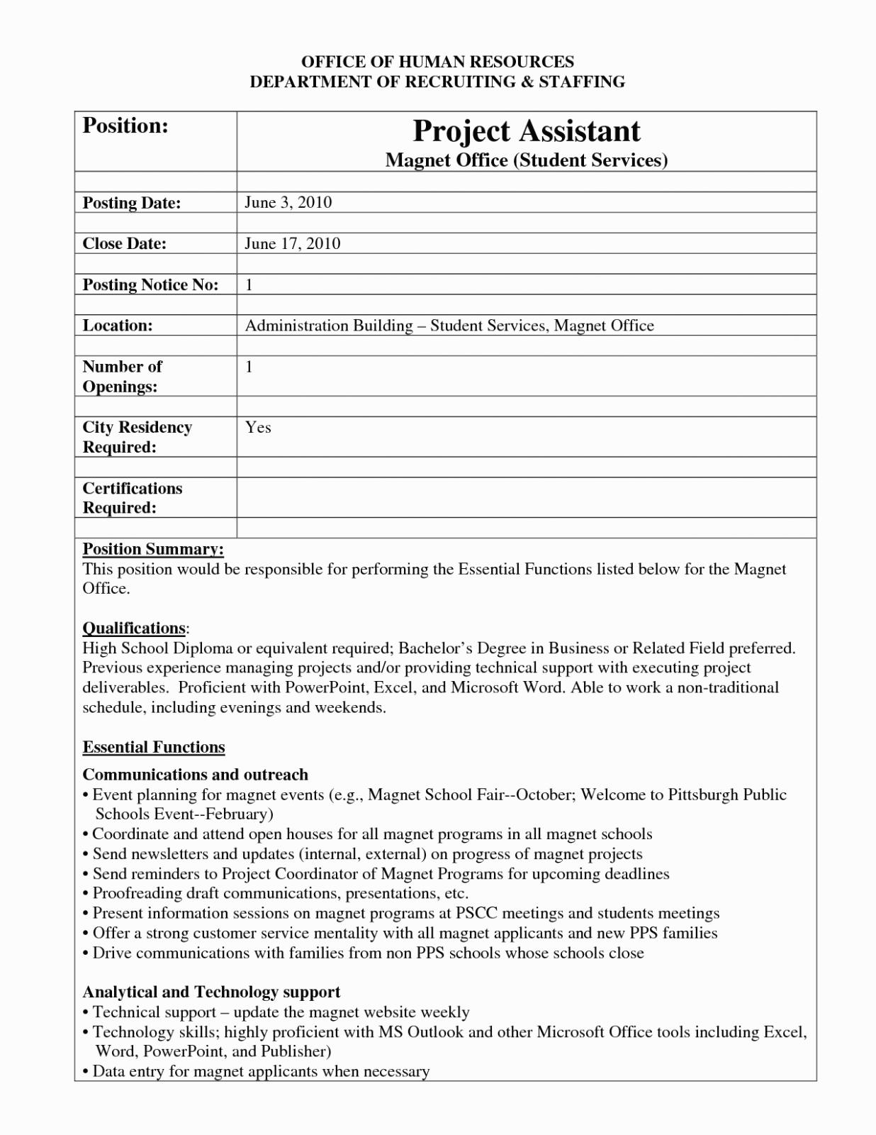 Internal Job Posting Template Word - Atlantaauctionco With Regard To Internal Job Posting Template Word