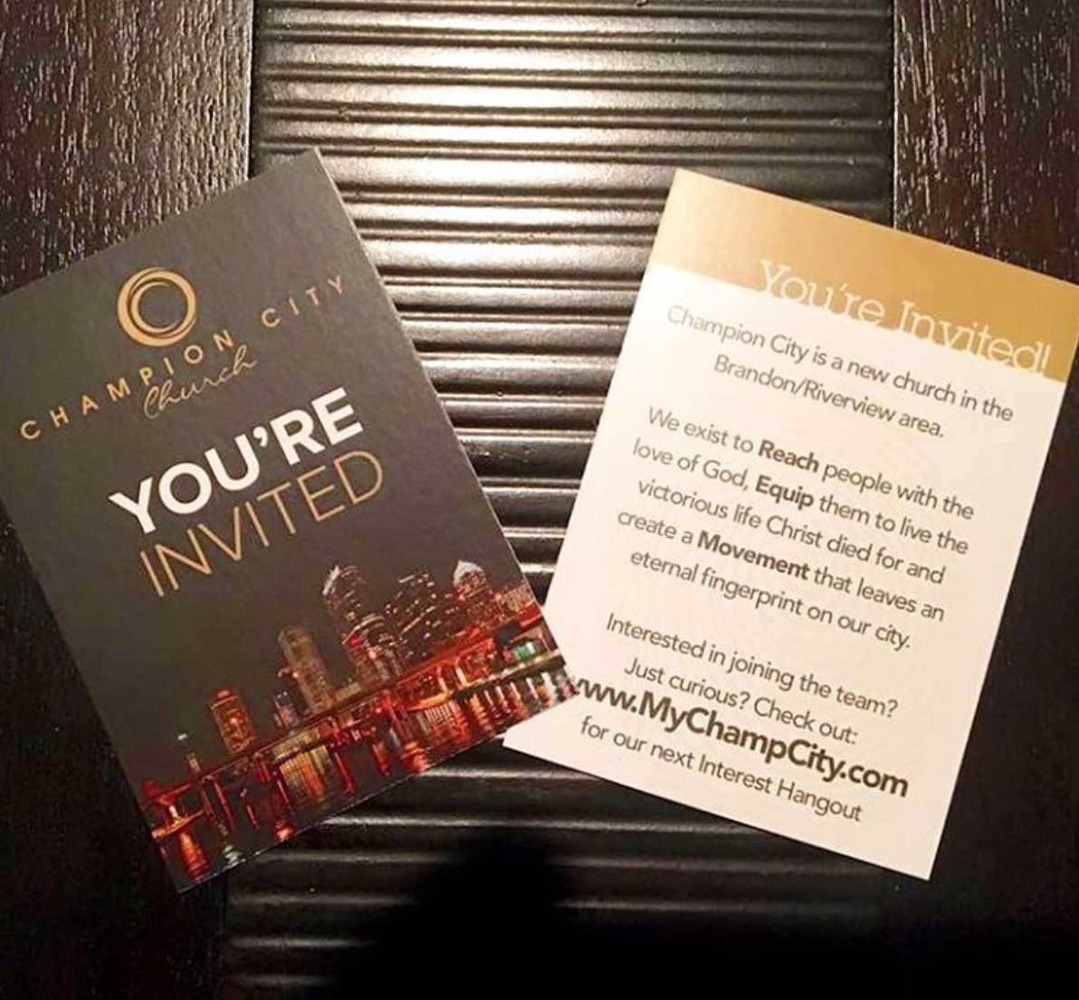 Invitation Cards | Outreach & Evangelism | Invitations Inside Church Invite Cards Template