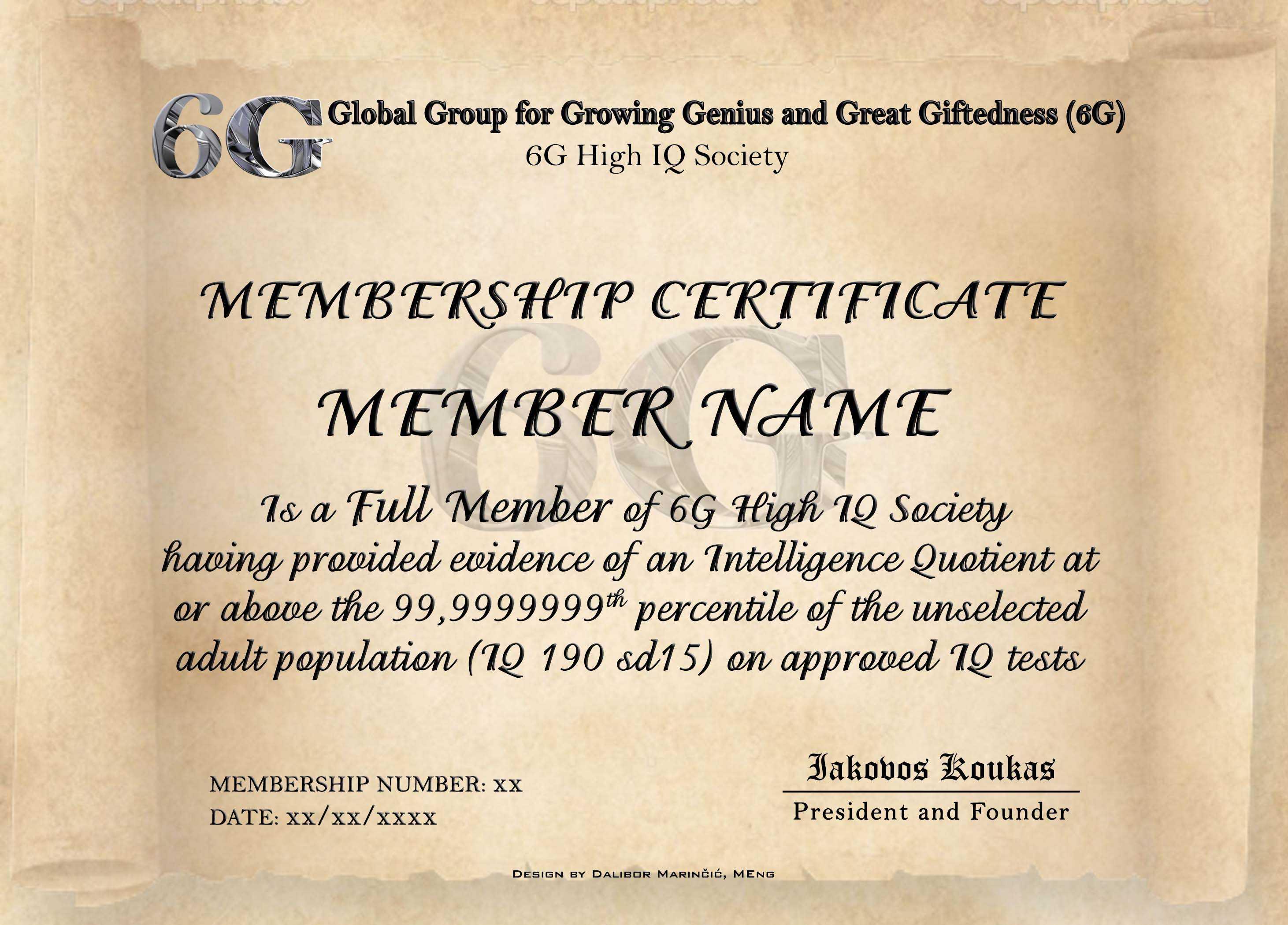 Iq Certificate Template – Atlantaauctionco For Iq Certificate Template
