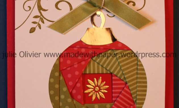 Iris Folding: Christmas Ornament | Cards - Iris Folding within Iris Folding Christmas Cards Templates