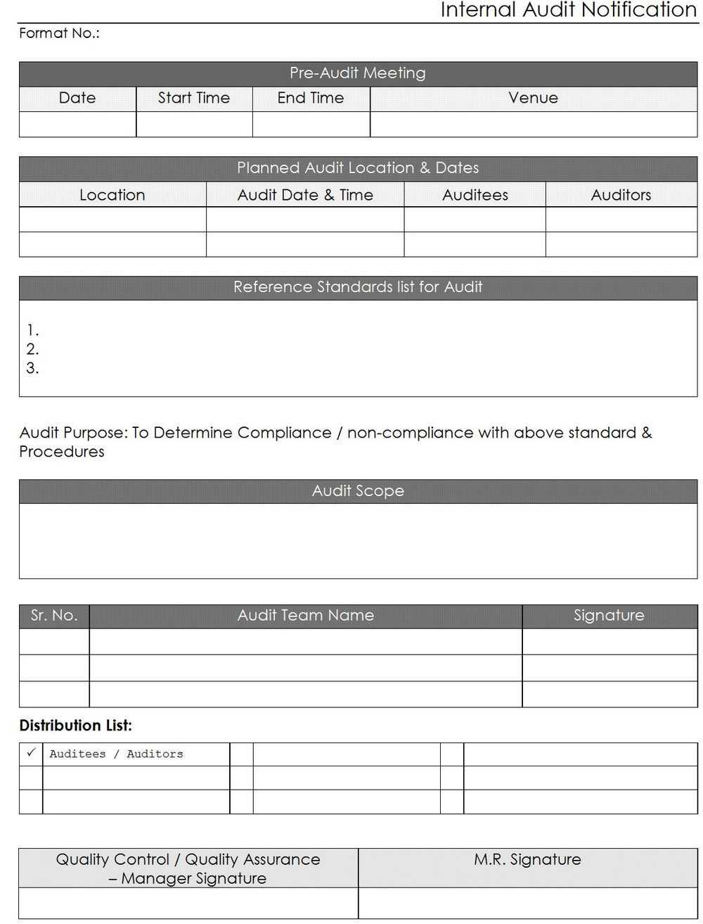 Iso Internal Audit Report Template | Nternal Audit Reporting With Internal Audit Report Template Iso 9001