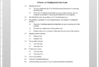 It Troubleshooting Plan Template | Itts104-1 inside Software Problem Report Template