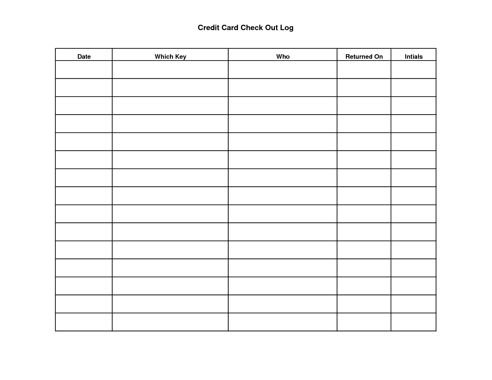 Key Sign Out Sheet Template | Scope Of Work Template With Check Out Report Template