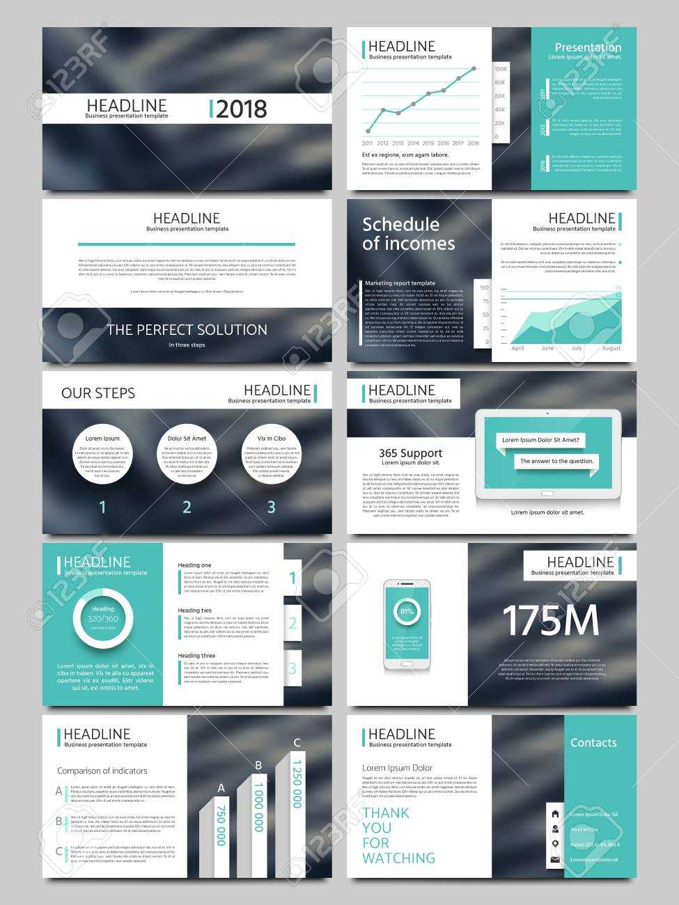Keynote Style Business Presentation Vector Template. Multipurpose.. Pertaining To Keynote Brochure Template