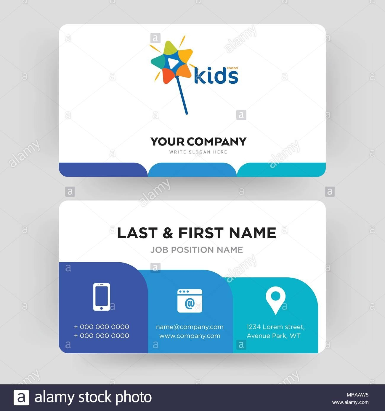Kids Channel, Business Card Design Template, Visiting For Regarding Id Card Template For Kids