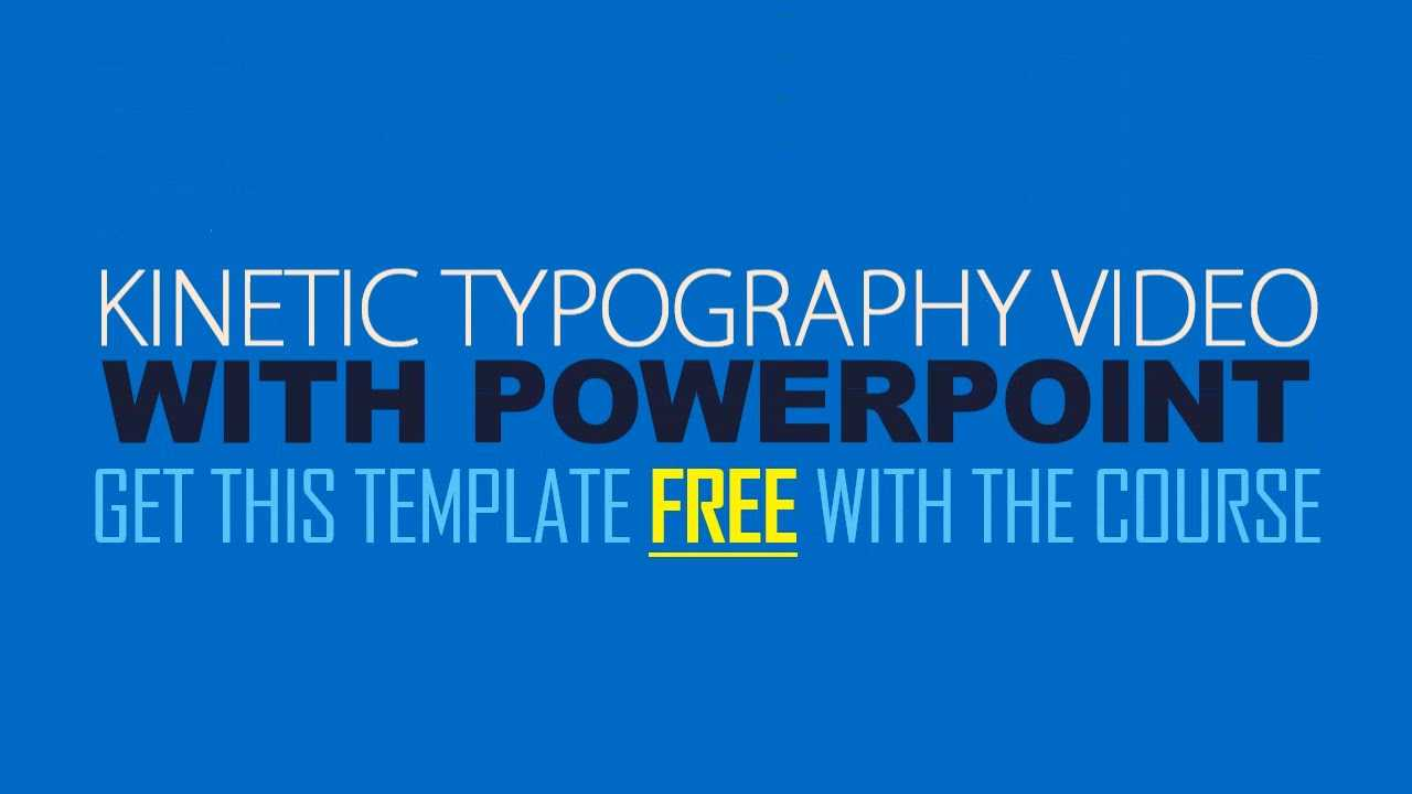Kinetic Typography Explainer Video With Powerpoint Throughout Powerpoint Kinetic Typography Template