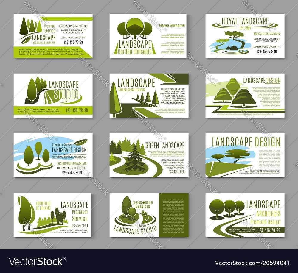 Landscape Design Studio Business Card Template With Landscaping Business Card Template