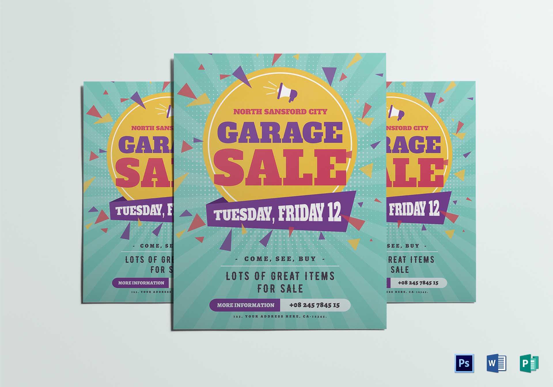 Large Garage Sale Flyer Template Regarding Garage Sale Flyer Template Word