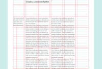 Layout Design: Types Of Grids For Creating Professional pertaining to 3 Column Word Template